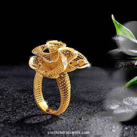 Gold Ring Design by 22k Gold Ring Design From One South India Jewels