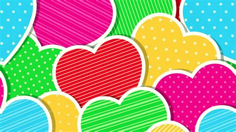 colorful love wallpaper hd colorful hearts wallpapers wallpaper cave