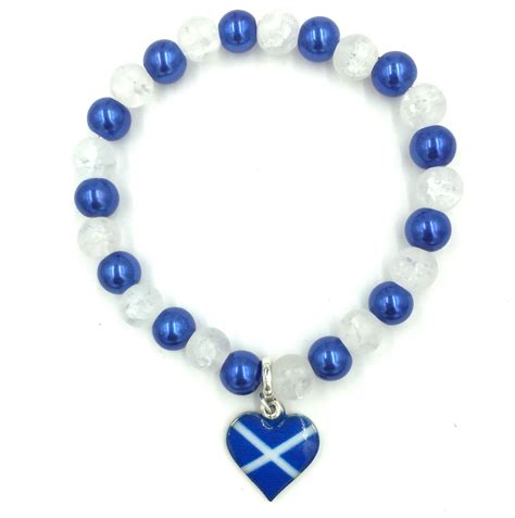 scottish charm bracelet with glass only 1 25each