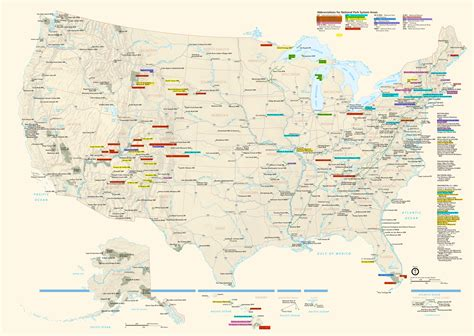 national parks usa map updated map of all national parks adventure rider