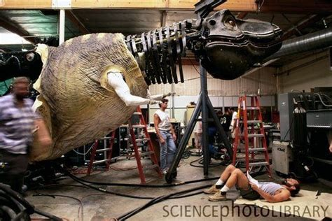 chris sullivan jurassic world the construction of the t rex animatronic for the film
