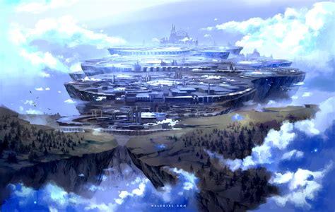 A Floating City floating city by nele diel on deviantart