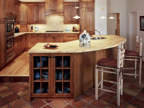 Curved Island Kitchen Designs by Pine Kitchen Cabinets Pictures Ideas Amp Tips From Hgtv Hgtv