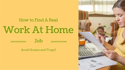 how to find a real work at home