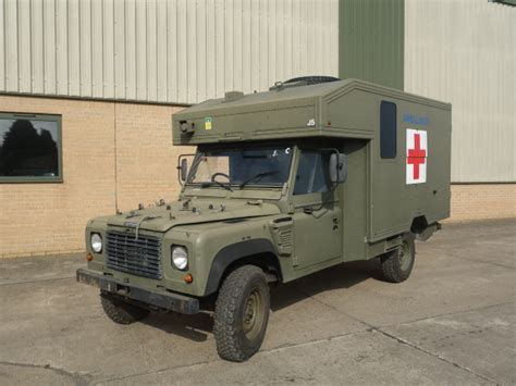land rover 130 defender wolf rhd ambulance ex for