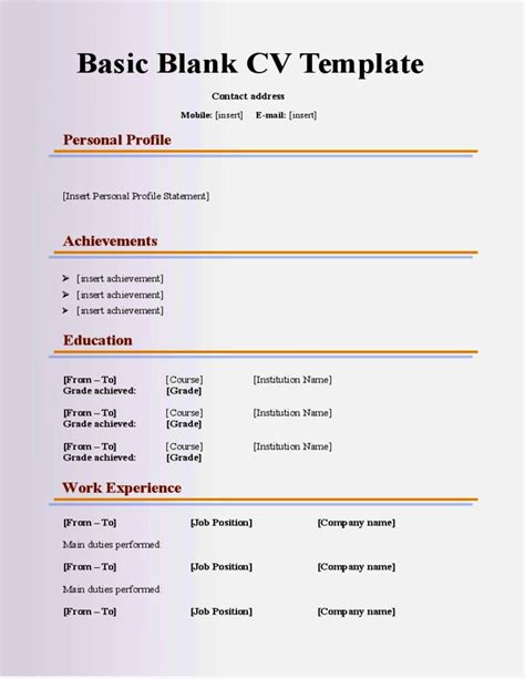 Resume Template 16 Year by 16 Year Cv Exle Resume Template Cover Letter