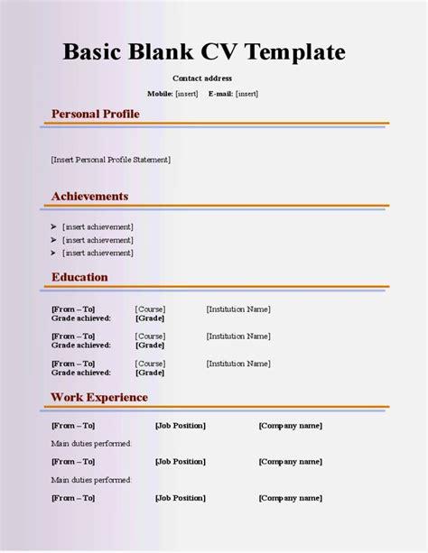 school leavers cv ideal vistalist co
