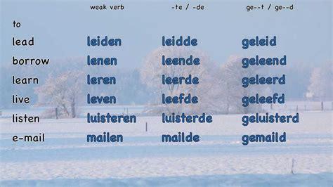weak list verbs 1 6 a list of weak verbs a p 150 weak