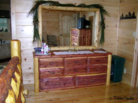 Handmade Cedar Furniture - one of a handmade rustic cedar furniture lodge