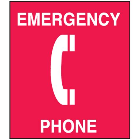 Emergency Room Phone Number by Polished Plastic Office Signs Emergency Phone Seton