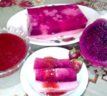 Teh Buah Naga resep membuat puding buah naga spesial resep cara masak