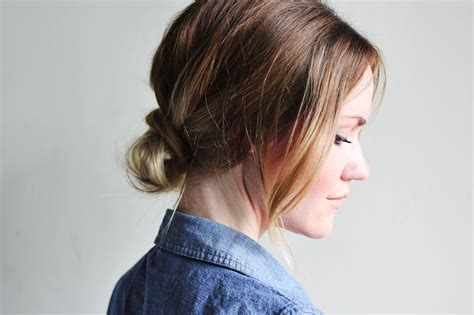 low bun with short hair how to style a low bun a beautiful mess