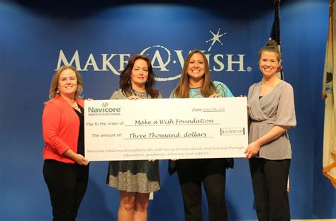 navicore staff donates 3 000 to make a wish nj