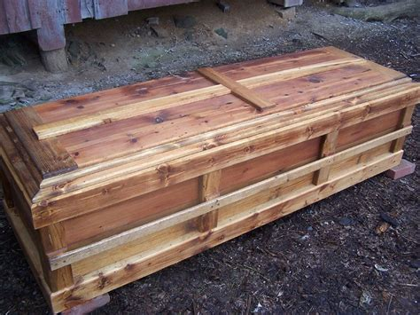 Handmade Wooden Coffins - buy a handmade reclaimed knotty pine custom casket made