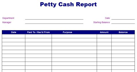 liquidity report template petty report template free layout format