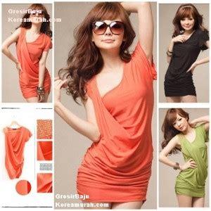 Longdress Santai Lengan Pendek Quine Orange mini dress korea mheyfashion