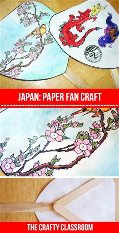 Japanese Paper Craft - paper fans fans and activities on