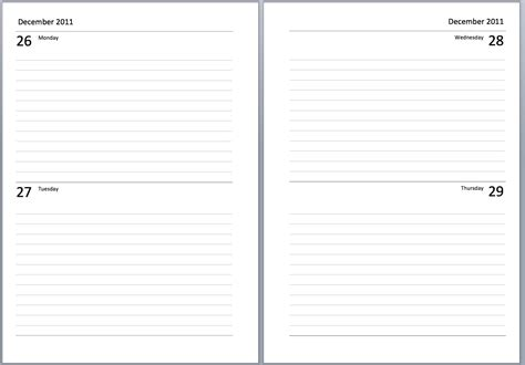 entry journal template for word paper diary paper template