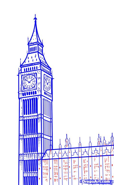 how to draw big ben step by step famous places