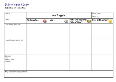 Iep Template By Thewritingcub Teaching Resources Tes Blank Iep Template