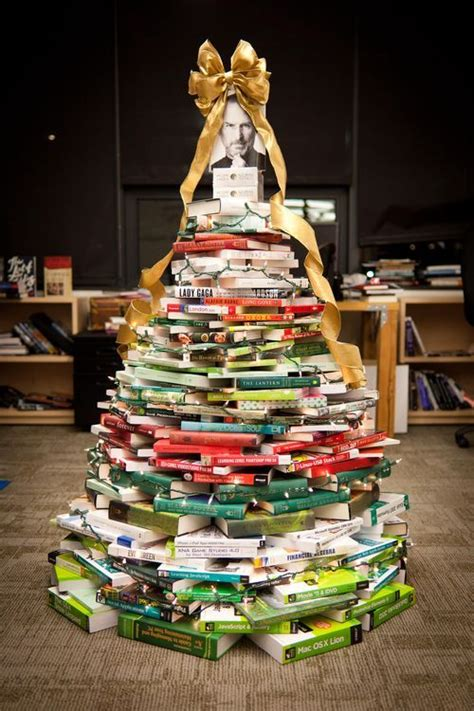 christmas tree books christmas tree made out of books for the home pinterest