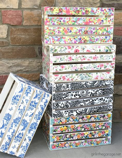 Can You Decoupage Photos - decoupage crates framed cork boards and drawer shelves