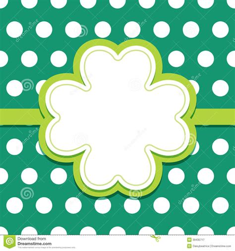st s day photo card template st patricks day card with 4 leaf clover text frame stock