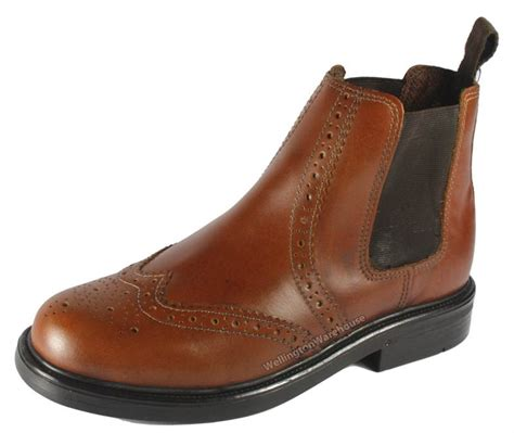 appleby boys childs leather brogue pull on chelsea dealer