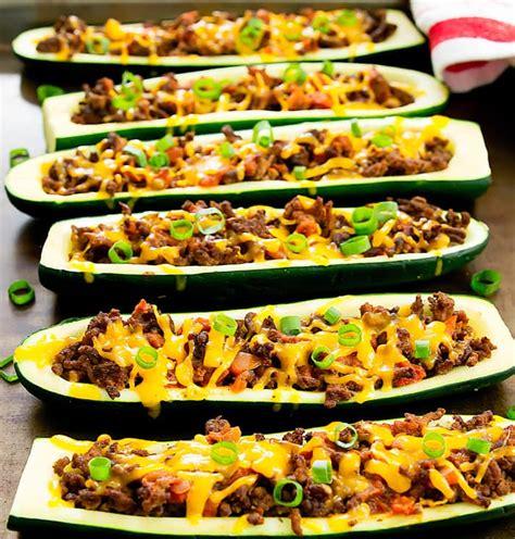 zucchini boats with taco seasoning taco zucchini boats kirbie s cravings
