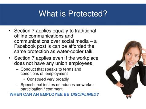 Nlra Section 7 Social Media by Workplace Behavior And Privacy Issues Employer Responses