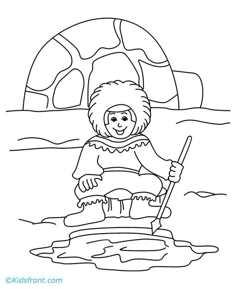 eskimo coloring pages az coloring pages