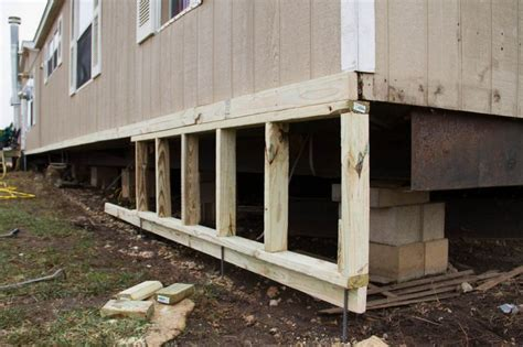 diy mobile home skirting mobile home remodel
