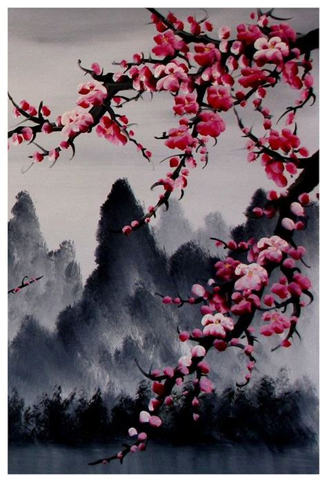 sakura flower mural wall painting youtube art de la fleur de cerisier murale fleur de cerisier par
