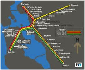 early bart system map i like trains
