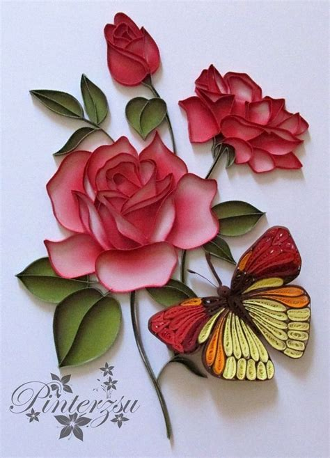 Paper Quilling Roses - 25 best ideas about quilled roses on paper