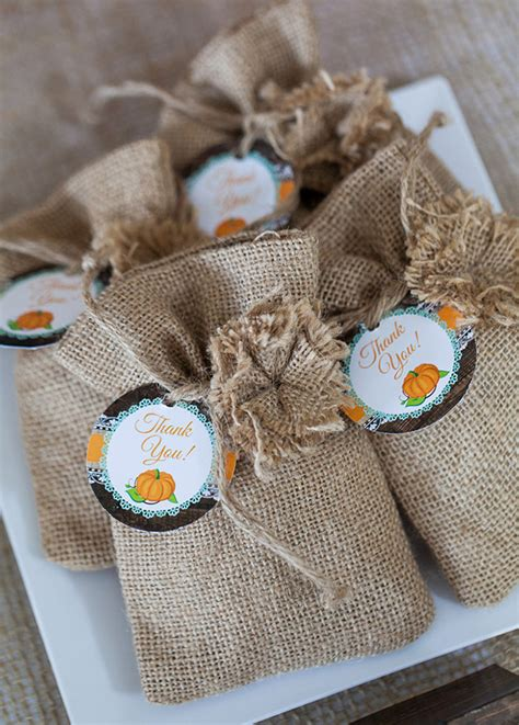 Pumpkin Baby Shower Favors by Rustic Pumpkin Fall Baby Shower