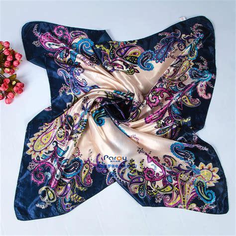 90 90cm satin square scarf high quality imitated