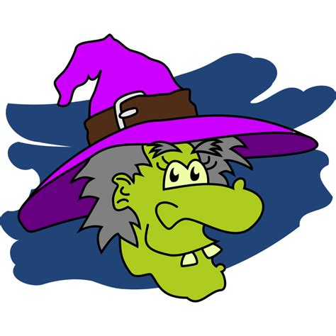 Wall Border Sticker witch riding a broomstick scary wall sticker from clip