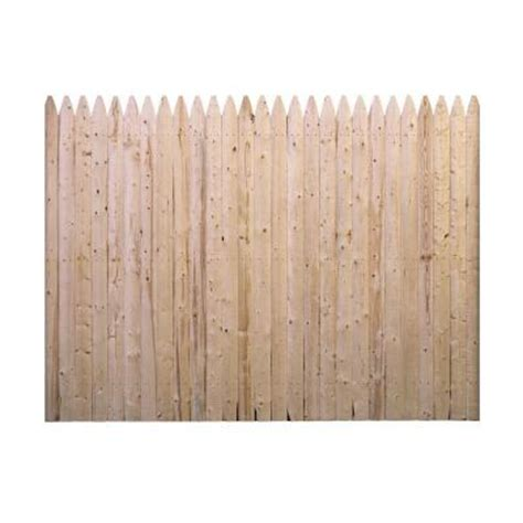 home depot fence sections barrette 6 ft h x 8 ft w spruce pine fir flat rough sawn