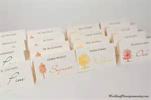 Placecards Autumn Trees Fall Place Cards Or Escort Cards Bellus