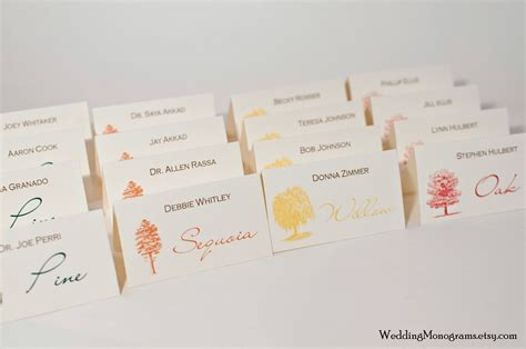 place cards escort cards wedding monograms by bellus designs