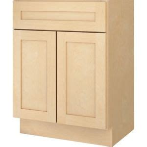 16 inch deep base cabinets bathroom vanity base cabinet natural maple shaker 24 quot wide