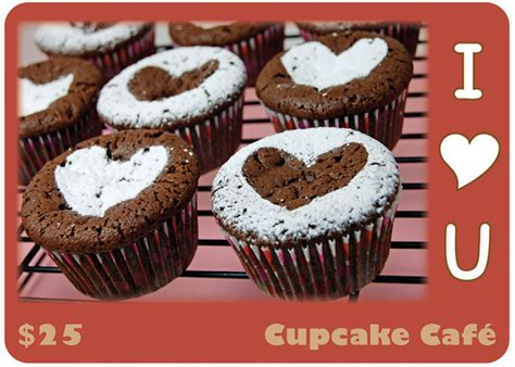 Gift Card Production - cupcake shop gift card sherry sink web design