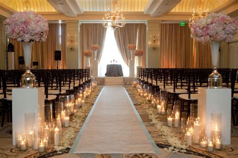 Wedding Aisle Vases by Re Purposing Ceremony Candles For Reception
