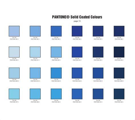 blue color chart pantone pms color chart pdf