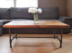 Pipe Leg Coffee Table Items Similar To Wood Coffee Table With Steel Pipe Legs Made Of Reclaimed Wood Standard 1 65