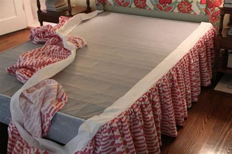 diy bed skirt diy ruffled bed skirt remodeling ideas pinterest