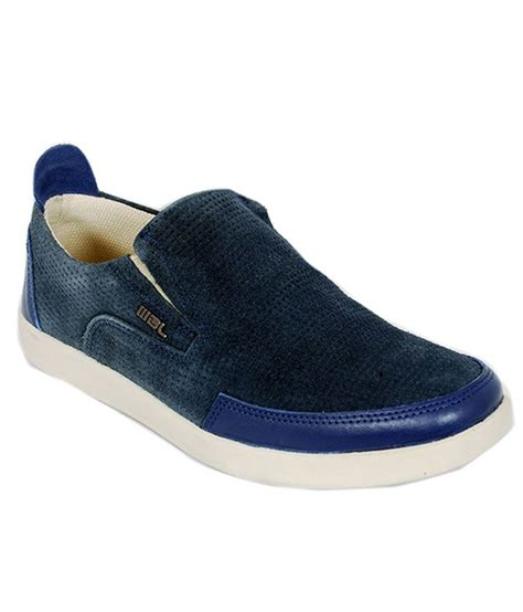 buy woodland navy blue casual shoes for snapdeal