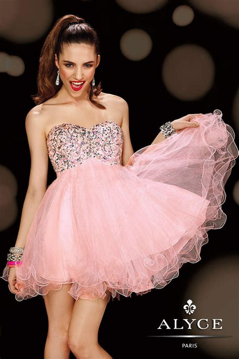 Alyce Sweet Sixteen 3594 Baby Doll Dress: French Novelty