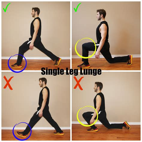 how to do how to do it single leg lunges